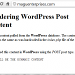 WordPress Themes .. Displaying Content