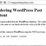 WordPress Themes .. Displaying Content