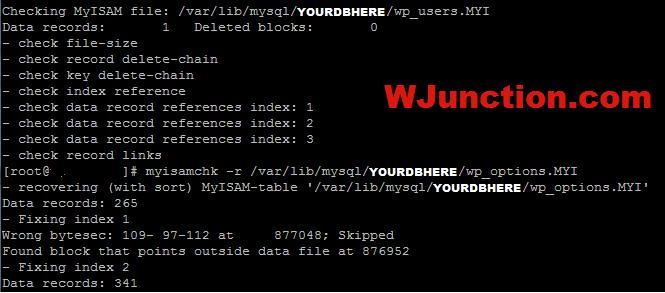 MySQL-TableRepair