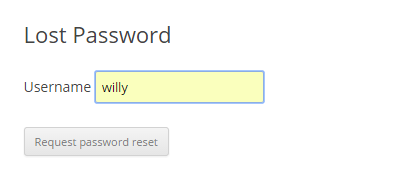 Request a Password Reset