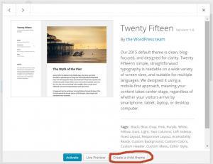 Creating a Child Theme in WordPress - alternate methods